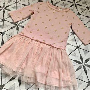 OSH KOSH | Preloved Pink & Gold Heart Tutu Dress